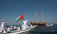 """15th February 2010. Muscat. Oman..Pictures of local fisherman and families bidding farewell to the """"Jewel of Muscat"""" . As she leaves Muscat and starts her historic journey to Singapore."""