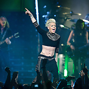"""WASHINGTON, DC - March 14th, 2013 -  Pink performs at the Verizon Center in Washington, D.C. as part of her """"Truth About Love"""" tour. Her album of the same name debuted at No. 1 on the Billboard  200 chart last September and included the hits """"Blow Me (One Last Kiss)"""" and """"Try."""" (Photo by Kyle Gustafson/For The Washington Post)"""