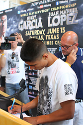 June 14, 2013; Dallas, Texas; USA;  Images from the HBO Boxing after Dark weigh-in for the card featuring Mikey Garcia vs Juan Manuel Lopez at the American Airlines Center.  Photo: Ed Mulholland/HBO  **HBO USAGE ONLY**