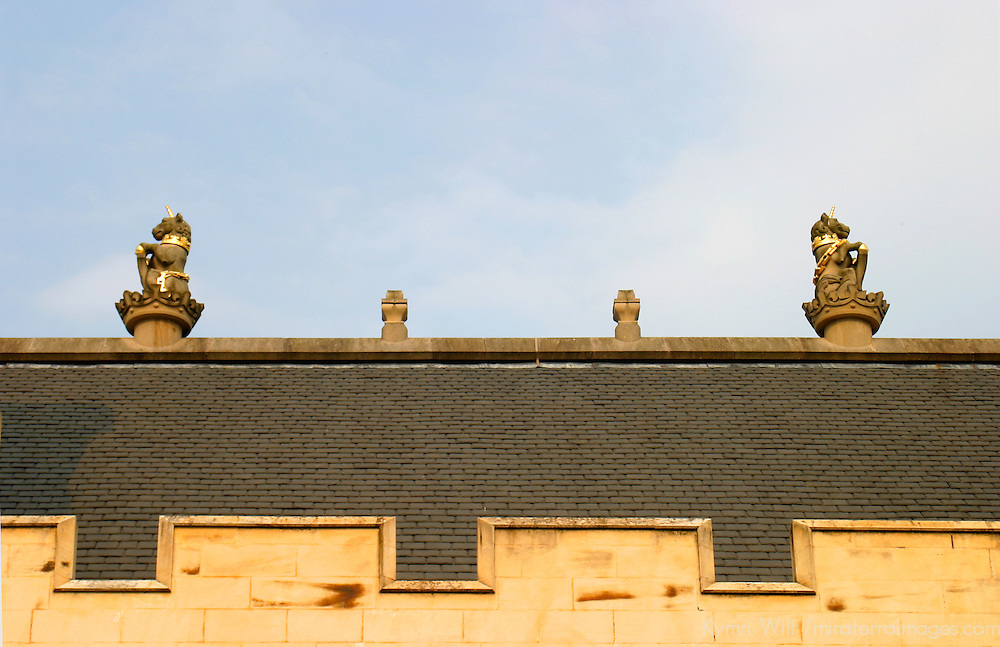 Europe, Great Britain, United Kingdom, Scotland. Stirling Castle roof detail.