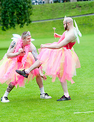 Krav Maga at the Macmillan Cancer Support photocall at Princes Street gardens..©Pic : Michael Schofield.