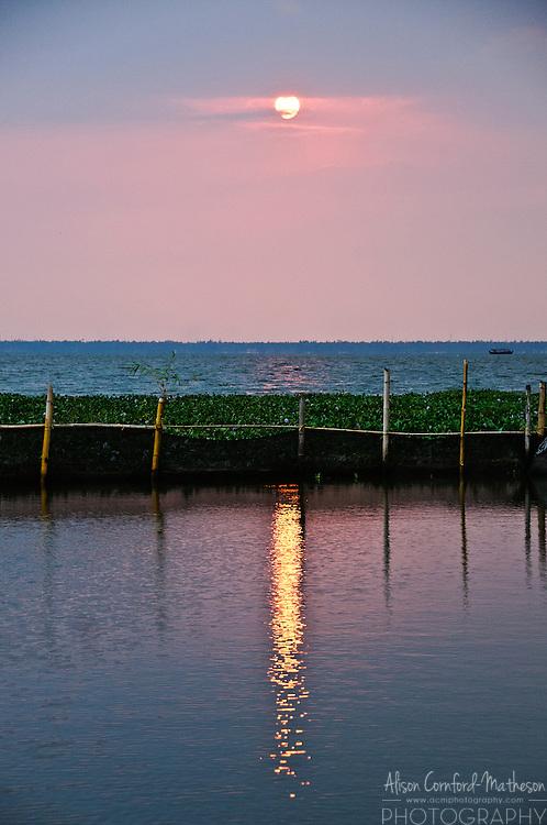 Sunset on the Kerala Backwaters