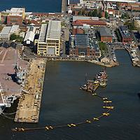 AErial view  of Norfolk Dredging at Pier 4 Philadelphia