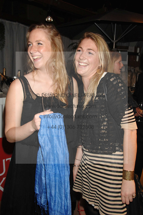 Left to right SOPHIE STEWART and ALICE DICKIE at a party for the Royal Marsden Hospital held at the Chelsea Gardener, Sydney Street, London on 6th May 2008.<br />
