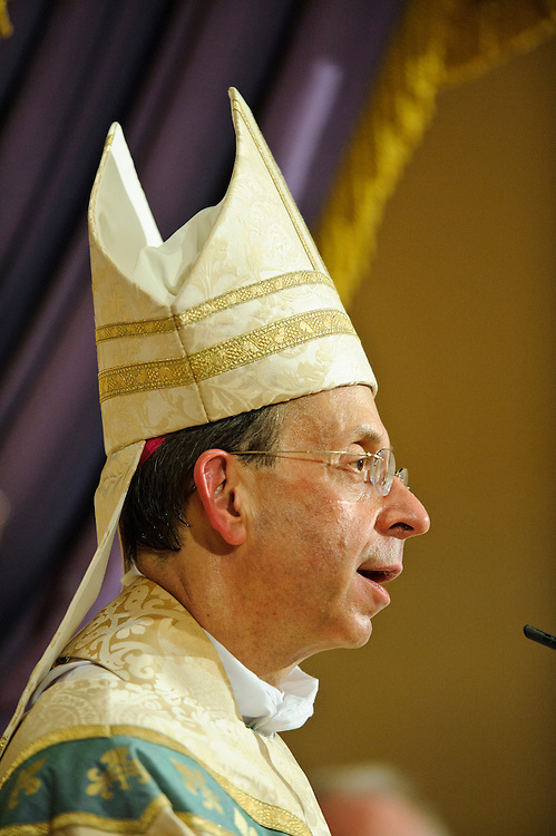 (photo by Matt Roth).Assignment ID: 10127747A..Archbishop William E. Lori of Baltimore will celebrate the liturgy to kick off the Catholic Church's national education campaign on Religious Liberty..during Mass at the Baltimore's historic Basilica of the National Shrine of the Assumption of the Blessed Virgin Mary Wednesday, June 20, 2012. The Mass opens the Fortnight For Freedom..