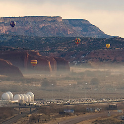 120310       Brian Leddy.Balloons lift off from Red Rock Park during the Red Rock Balloon Rally   on Friday morning. .