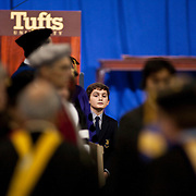 10/21/11- Young Anthony Monaco, the son of Tufts President Anthony P. Monaco, peers through the crowd for a glimpse of his father before his official inauguration ceremony on Friday, October 21, 2011.