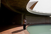 Two friends at the Lotus Temple in New Delhi - 2007
