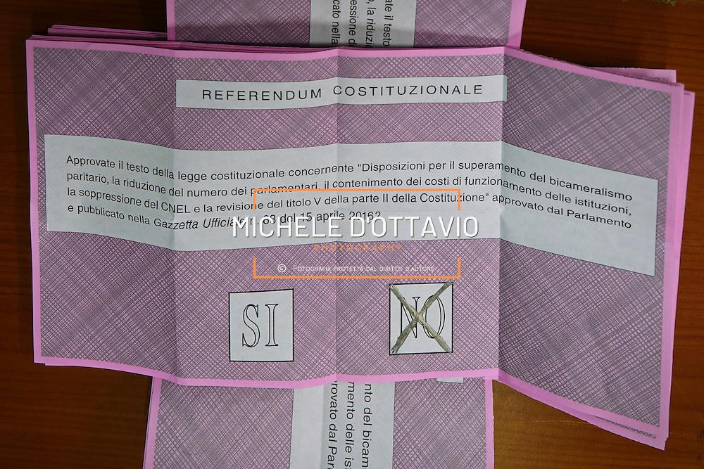 Scrutinio dei voti della consultazione per il referendum costituzionale del 4 dicembre 2016