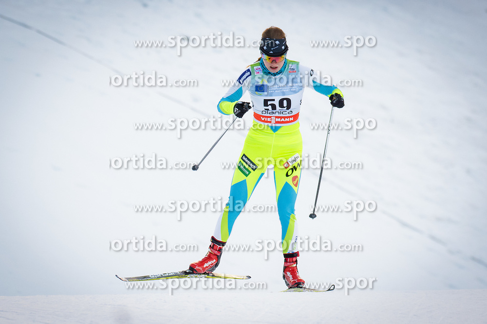Anja Zavbi Kunaver (SLO) during Ladies 1.2 km Free Sprint Qualification race at FIS Cross<br /> Country World Cup Planica 2016, on January 16, 2016 at Planica,Slovenia. Photo by Ziga Zupan / Sportida