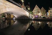 St Michael's Bridge at Night, Ghent, Belgium