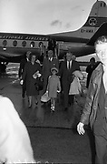 25/08/1963<br /> 08/25/1963<br /> 25 August 1963<br /> Royal Visit by Prince Rainier and Princess Grace of Monaco. The Royal family arrive at Dublin Airport. A smiling Prince Rainier and daughter Caroline arrive at Dublin Airport.