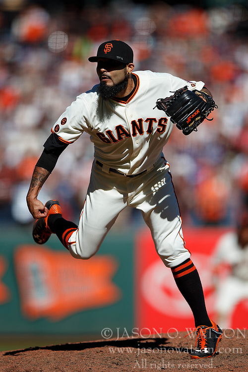 SAN FRANCISCO, CA - OCTOBER 02: Sergio Romo #54 of the San Francisco Giants pitches against the Los Angeles Dodgers during the ninth inning at AT&T Park on October 2, 2016 in San Francisco, California. The San Francisco Giants defeated the Los Angeles Dodgers 7-1. (Photo by Jason O. Watson/Getty Images) *** Local Caption *** Sergio Romo