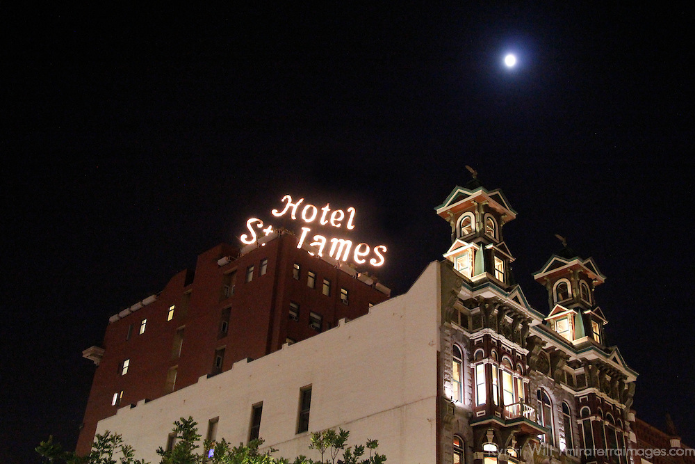 USA, California, San Diego. Wyatt Earp's Historic Gambling Hall & Casino & Hotel St. James, downtown San Diego.