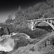 Ben Jones Bridge - Highway 101 - Oregon Coast - Infrared Black & White