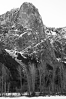 Yosemite Valley in Winter. Nikonians 2010 Yosemite Winter Workshop Day 1. Image taken with a Nikon D3s and 50 mm f/1.4G lens (ISO 200, f/8, 1/40 sec). Capture One Pro 6. Adobe Photoshop CS5, Focus Magic, NIK Silver Efex Pro 2.
