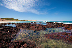 Small fish fill the rockpools on the coast near Quandong Point on the Kimberley's Dampier Peninsula.