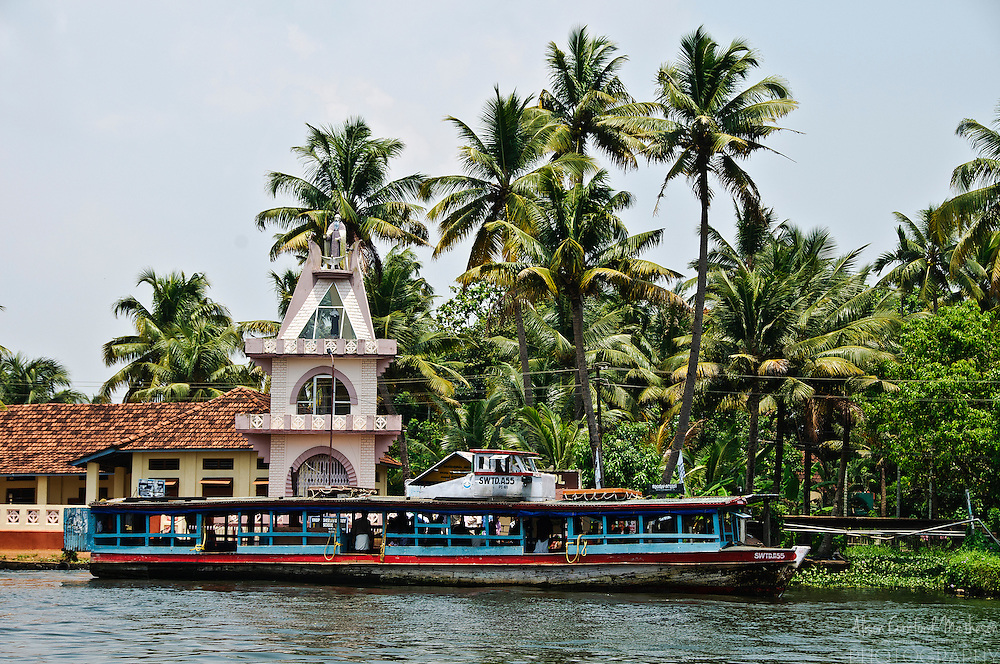 Boat Bus on the Kerala Backwaters