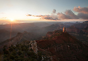 Sunrise from Point Imperial, the highest point in Grand Canyon National Park.
