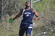 Oxford Middle School's Michael McGee throws the discus at a track meet in Oxford, Miss. on Thursday, April 7, 2011.