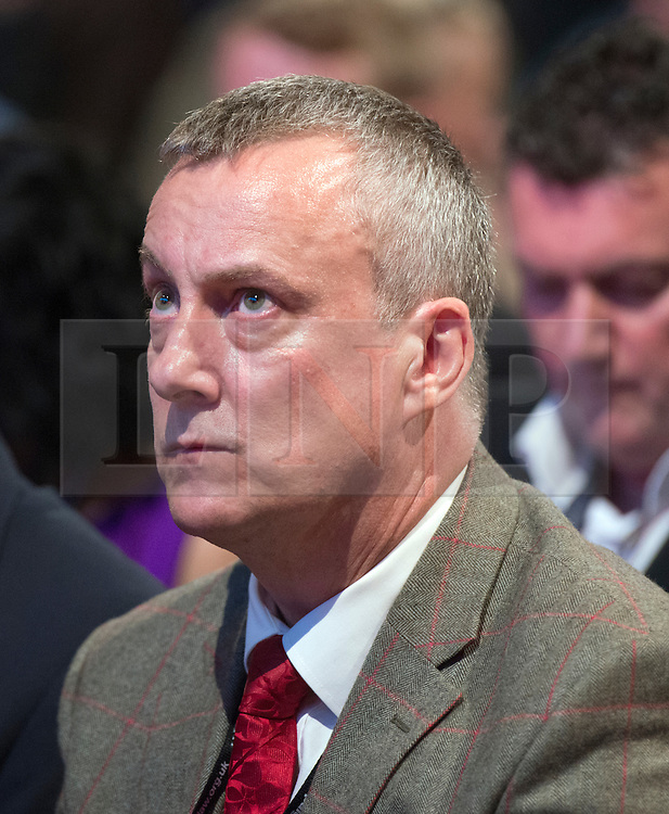 © Licensed to London News Pictures. 23/09/2014. Manchester, UK. Stephen Tompkinson. Leader of the Labour Party Ed Miliband gives his leaders speech at the Labour Party Conference 2014 at the Manchester Convention Centre today 23 September 2014. Photo credit : Stephen Simpson/LNP