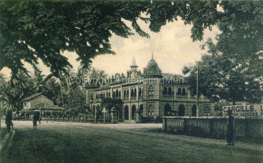 Old Ceylon postcard. Eye Hospital Colombo.