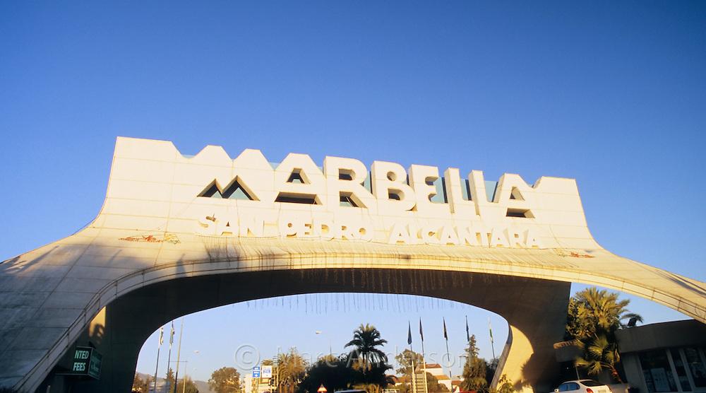 The famous Marbella arch, Costa del Sol, Spain