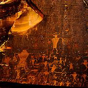 Ancient Native American rock art.