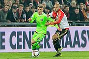 ROTTERDAM - Feyenoord - Ajax , Voetbal , KNVB Beker , Seizoen 2015/2016 , Stadion de Kuip , 25-10-2015 , Ajax speler Daley Sinkgraven (l) in duel met Speler van Feyenoord Karim El Ahmadi (r)