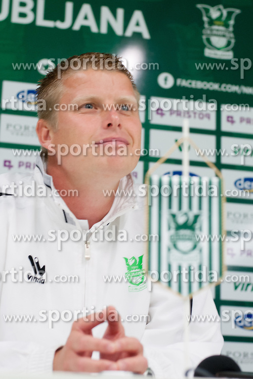 Andrej Razdrh, head coach of NK Olimpija Ljubljana, during football match between NK Olimpija and FC Luka Koper in 8th Round of Prva liga NZS 2012/13, on September 1, 2012 in SRC Stozice, Slovenia. (Photo by Matic Klansek Velej / Sportida.com)