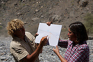 geologist in the field (oman mountains)