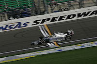 Tomas Scheckter at the Kansas Speedway, Kansas Indy 300, July 3, 2005