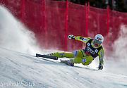 Norwegian Alpine Ski Team athlete Kjetil Jansrud skiing to third place in the Birds of Prey World Cup Downhill ski race at the Beaver Creek Resort in Avon, CO on Novemebr 30, 2012.