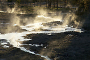 Steaming hot spring at Artists Paintpots in Yellowstone National Park