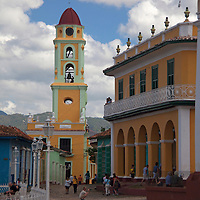 Central America, Cuba, Trinidad. Iglesia y Convento de San Francisco bell tower, Trinidad.