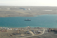 Aerial views of Resolute Bay. Cornwallis Island. Parry Channel at the Lancaster Sound. Canada<br />