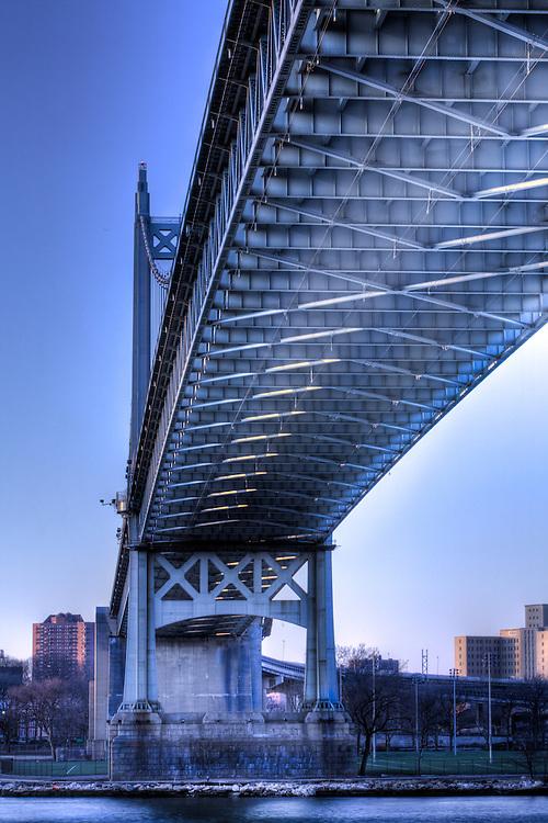Under the Tri-borough Bridge from Astoria park in Queens.