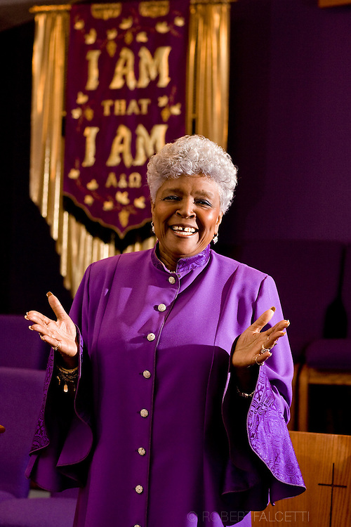 Rev. Patricia McDaniel is pastor of the Redeeming Love Tabernacle of Praise and has returned to preaching after her heart procedure. (Photo by Robert Falcetti). .