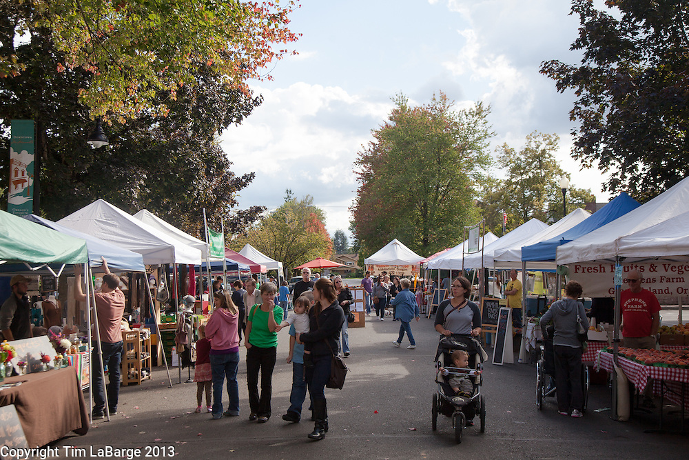 Farmers market with: For 72 Hours in McMinnville for 1859 Magazine. Photo © Tim LaBarge 2013