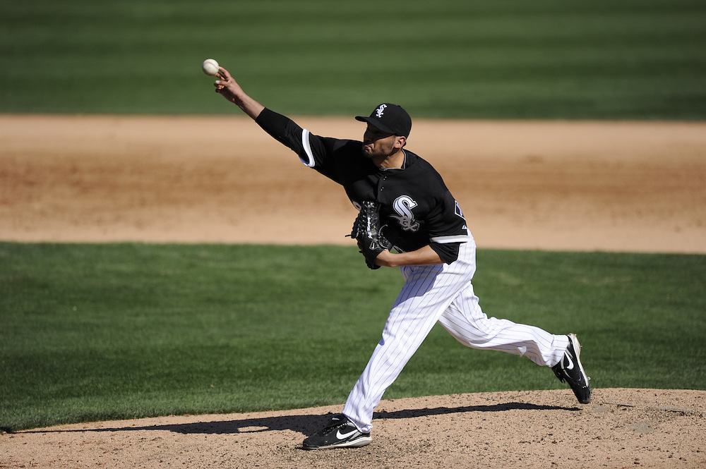 GLENDALE, AZ - MARCH 03:  Jeff Marquez #48 of the Chicago White Sox pitches against the Seattle Mariners on March 03, 2011 at The Ballpark at Camelback Ranch in Glendale, Arizona. The White Sox defeated the Mariners 6-1.  (Photo by Ron Vesely)  *** Local Caption *** Jeff Marquez