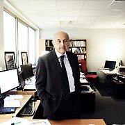 PARIS, FRANCE. MARCH 31, 2011. Economist Jean-Herve Lorenzi is the president of Le Cercle des Economistes. He is also an Advisor to the Management Board of Compagnie Financiere E. de Rothschild. Shot in his office in Paris. (photo : Antoine Doyen)