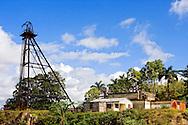 Buildings and tower in Minas de Matahambre, Pinar del Rio, Cuba.