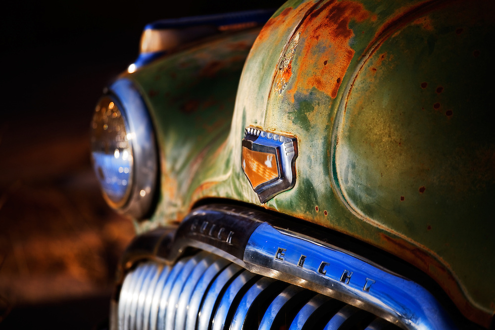 This Buick Eighty-Eight has become one with the landscape that surrounds it, taking on the colors of the southwest. The reds and orange of the land, the green of the sage, and the blue of the endless sky.