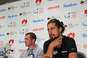 Media Conference with (L-R) Simon Gerrans (ORICA-SCOTT), Peter Sagan (Bora Hansgrohe), Tour Down Under, Australia on the 14 of January 2017 ( Credit Image: © Gary Francis / ZUMA WIRE SERVICE )