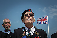 British veterans  during the official 69th anniversay celebration ceremony in Arromanches