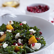 Beet, Goat Cheese and Pomegranate Salad with seeds