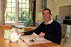 MAY 25 2000 Frankie Dettori at his home
