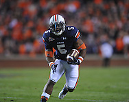 Auburn running back Michael Dyer (5) runs at Jordan-Hare Stadium in Auburn, Ala. on Saturday, October 29, 2011. .