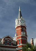 Clock tower on Brunswick Georgia, City Hall.