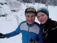 Two happy skiiers